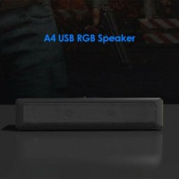 A4 6W RGB USB Wired Sound Bar PC Home Theater TV Stereo Surround Speaker