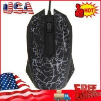USB Mouse 3 Buttons Optical Gaming Game Mouse 7 Colors LED for PC Laptop