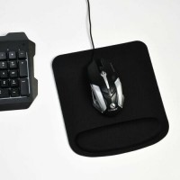 Anti-slip Mouse Mat Pad With Foam Wrist Support Pc & Laptop Mouse Mat Pad Black