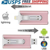 OTG 3-IN-1 USB3.0 256GB Micro Flash Pen Drive Thumb Memory Stick UDisk For iPhon