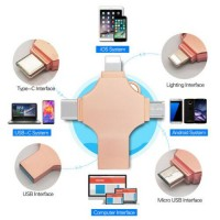 1TB 128GB USB 3.0 OTG Flash Drive Memory Stick Type C 4in1 For iPhone Android PC
