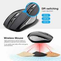 2.4GHz 6D 1200 DPI USB Wireless Optical Gaming Mouse Mice for Laptop Desktop PC