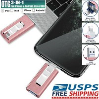 3in1 256GB USB Flash Drive Memory Stick OTG Pendrive For iPhone 8 11 XS XR Max