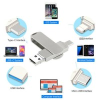 1TB 512GB Type C USB 3.0 Flash Drive Memory Stick 4in1 For iPhone OTG Android PC