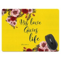 X-Large Rectangle Mouse Pad Non-Slip Bible Verses Design for Home Office Gaming