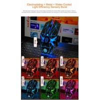 Wireless USB Optical Gaming Mouse Rechargeable 7 Color Backlit Laptop Mice White