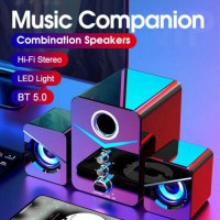 USB Wired Speaker Game Soundbar Bluetooth Stereo Bass AUX Subwoofer TV PC Laptop