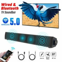 Sound Bar 6W Wired Bluetooth Speaker Dual Modes Home Theater Stereo Speaker USA