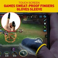 2x Mobile Finger Sleeve Touch Screen Game Controller Sweatproof Gloves Gaming US