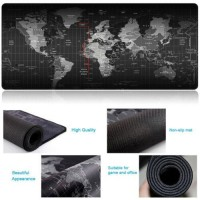 Large Size Mouse Pad Extended Gaming Desk Keyboard Anti-slip Soft World Map Pad