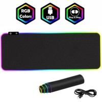RGB Wired Keyboard Mat Colorful Lighting USB Gaming Mouse Pad for PC Laptop R8K7