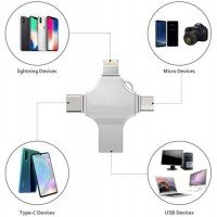 4 in 1 OTG USB 3.0 Flash Drive Memory Photo Stick For iPhone iPad Android Type C