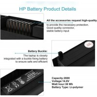 HS03 HS04 Replacement Battery For HP Spare 807957-001 807956-001 807612-421 US