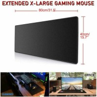 NonSlip PU Leather Mouse Pad Computer PC Gaming Mouse Mat Size 800*400*2MM Black