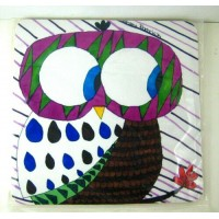 <New WHIMSICAL OWL COMPUTER RUBBER MOUSE PAD Desk Mat School Office