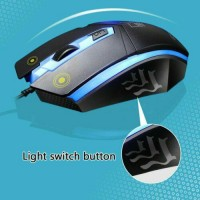 Gaming Mechanical Keyboard and Mouse Combo RGB LED Wired USB For PC Laptop PS4
