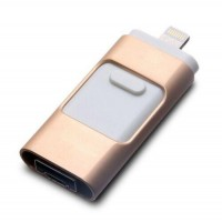3 in 1 OTG iFlash USB Disk Drive Lot Thumb iPhone 11 Pro X Max Android 64GB Gold