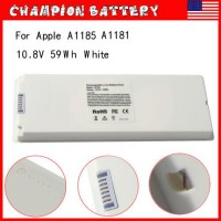 """6 Cell Laptop Battery for Apple MacBook 13"""" 13.3 inch A1181 A1185 / 60W Adapter"""