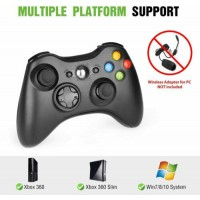 Wireless Controller Compatible with Xbox 360 /Slim 360 /PC Windows 7 8 10 2.4GHz
