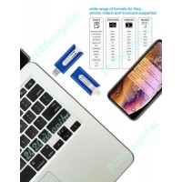 Blue Photo Stick Flash Drive Memory USB3.0 For iPhone 6/7/8 XR 12 Pro Max Micro