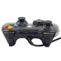 For Microsoft Xbox 360 & Windows PC USB Wired Video Game Controller Pad White