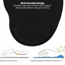 Wrist Rest Support Game Mice Pad Mouse Mat for Computer PC Anti Slip Black Blue