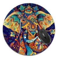 Non-Slip Large Size Round Circle Mousepad For PC Laptop Home Gaming Computer