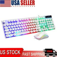 Rainbow Gaming Keyboard And Mouse Set Multi-Color Changing Backlight Mice H0A1