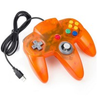 1/2 ICE-Orange Nintendo N64 USB Wired Controller for PC/MAC Retro-Link 2019 NEW