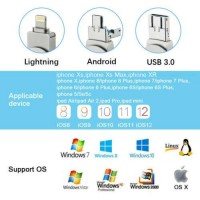 1TB 256GB OTG 3 In 1 USB 3.0 Flash Drive Memory Stick Thumb For iPhone Android