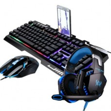 +Rainbow Gaming Keyboard And Mouse Set Multi-Color Changing Backlight Mouse Mice