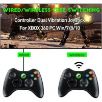Wired/Wireless Gamepad Controller Remote For Xbox 360 /PC windows7/8/10 Joystick