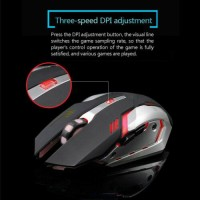 Wireless Laptop Mouse LED Backlit Rechargeable Optical Gaming Mouse 2.4GHz NEW$