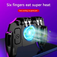6 Fingers Mobile Gaming Cooling Gamepad for PUBG Controller Joystick (M11) S1