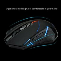 2400DPI Wireless Gaming Mouse 2.4G Unique Silent Click Optical for PC Laptop Mac