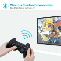 2PCS Wireless Bluetooth Video Game Controller Pad for PS3 Playstation 3 Blue