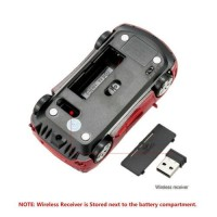 2.4GHz Wireless Car Optical Mouse Game Mice for PC Laptop 1000DPI 3 Buttons K1P3