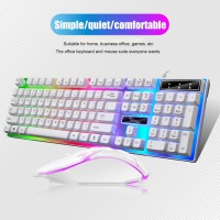 USB Wired Gaming Keyboard Mouse Kit Mechanical Feel Backlight Mice for PC Laptop