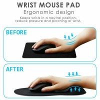 1/2PC Wrist Rest Support Mouse Mat Gaming Mice Pad For PC Laptop Computer Office