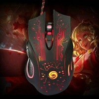 USB Wired Colorful Backlit Ergonomic Gaming Mouse For Laptop PC 6 Button 3200DPI