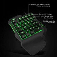 One-Handed Game Keyboard RGB Wired Gaming & Mouse Mechanical for PS4/Xbox/PC USA